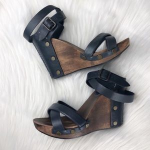 See by Chloe Wedge Sandals with wooden heel